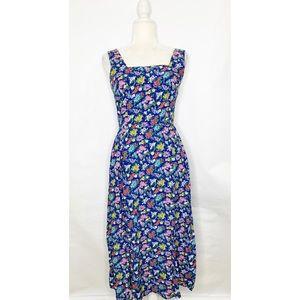 Vintage Liz Claiborne Sport Size 4 Blue Floral